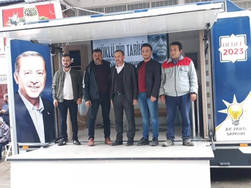 AK PARTİ MOBİL ÜYE KAYIT ARACI ALAÇAM'DA