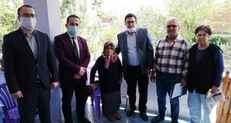 ALAÇAM'DA 100 YAŞ ÜSTÜ ANNELER UNUTULMADI