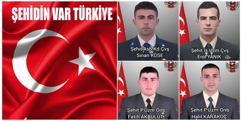 BARIŞ PINARI HAREKÂT BÖLGESİ'NDEN ACI HABER! 4 ŞEHİT