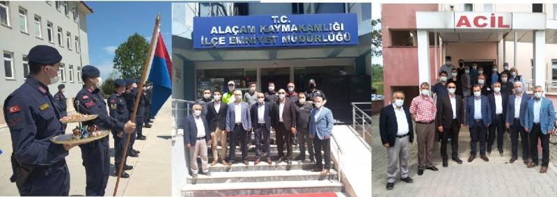 ESNAF ODASI'NDAN EMNİYET JANDARMA VE HASTANE'YE BAYRAM ZİYARETİ