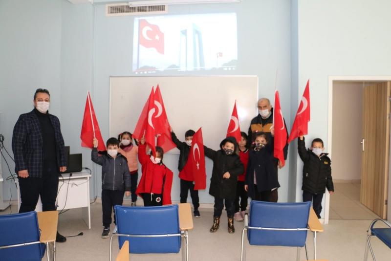 """İLKOKULU 1. SINIF ÖĞRENCİLERİNE """"ÇANAKKALE SİNEVİZYONU"""""""