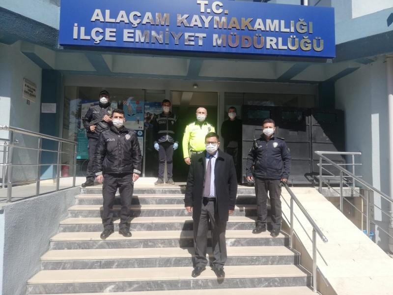 KAYMAKAM'DAN EMNİYETE 10 NİSAN POLİS HAFTASI ZİYARETİ