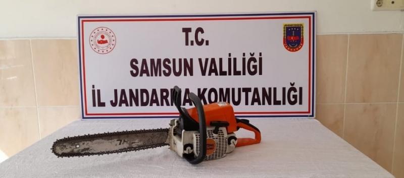 MOTORLU TESTERE SAHİBİNE TESLİM EDİLDİ