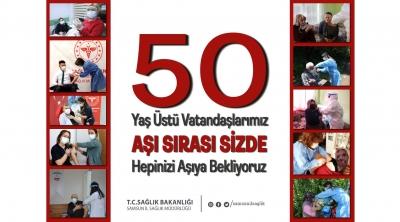 AŞI SIRASI 50 YAŞ ÜSTÜNDE