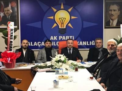 BAŞKAN ACAR'DAN AK PARTİ'YE ZİYARET