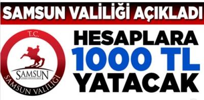SAMSUN VALİLİĞİ'NDEN 'YARDIM' AÇIKLAMASI