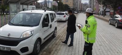 SOKAĞA ÇIKMA KISITLAMASI KAPSAMINDA KAYMAKAM'DAN YOL DENETİMİ